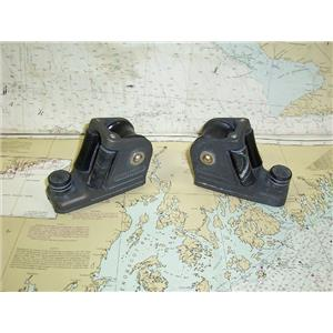 "Boaters' Resale Shop of TX 1704 4105.02 HARKEN PAIR OF BLOCKS ON 1"" TRACK CARS"