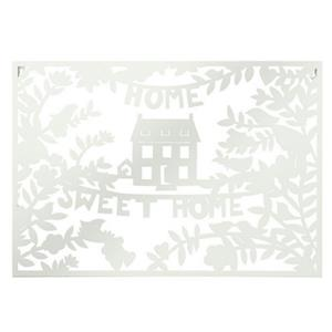 Home Sweet Home Wall Decor By CBK Inspired Home WHITE -A