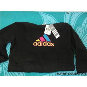 NEW - WOMEN'S ADIDAS L Hooded Sweater in Black w/ Tags attached -A