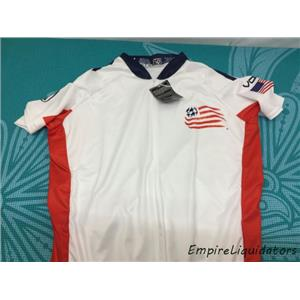 MLS VOmax New England Revolution Secondary Short Sleeve Cycling Jersey -A