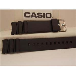 Casio Watch Band MTD-1080 Black Resin Watchband. Strap