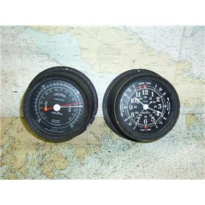 Boaters' Resale Shop of TX 1703 2451.15 SETH THOMAS BAROMETER & CLOCK SET 1635