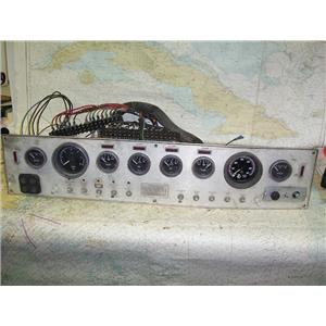 Boaters' Resale Shop of TX 1703 2777.01 GAUGE & SWITCH PANEL WITH HARNESSES ONLY