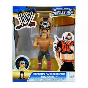 NEW - WWE 3.5 Bobble Head Figures- Road Warrior Animal