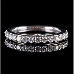 Vera Wang 14k White Gold Round Cut Diamond & Sapphire Wedding Ring .55ctw
