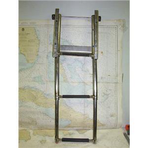 Boaters' Resale Shop of TX 1703 0725.22 WINDLINE 3 STEP TELESCOPIC BOAT LADDER