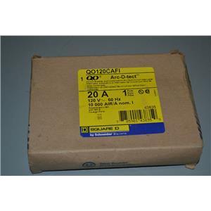 SQUARE D QO120CAFI ARC-FAULT, 20A, 1 POLE, NEW IN BOX