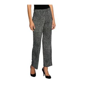 Susan Graver Size 3X Heavy Liquid Knit Printed Pull-on Ankle Pants in Abstract