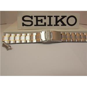 Seiko Watch Band SNZB24J Bracelet Steel Two Tone Silver/Gold.Original Watchband