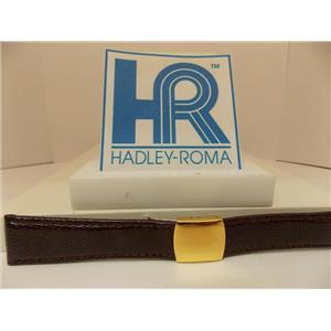 Hadley Roma Watchband 20mm Brown Genuine Lizard Skin w/Butterfly Fold Buckle.