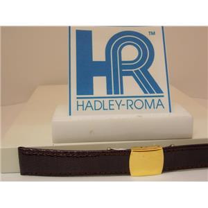 Hadley Roma Watchband 18mm Brown Genuine Lizard Skin w/Butterfly Fold Buckle.