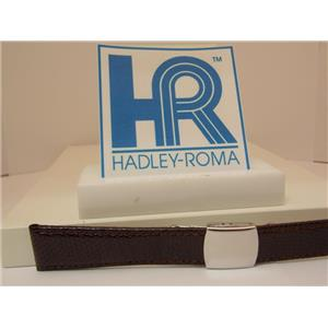 Hadley Roma Watchband A: 18mm Brown Genuine Lizard Skin w/Butterfly Fold Buckle.