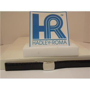 Hadley Roma Watchband A: 12mm Ladies Blk Genuine Lizard  w/Butterfly Fold Buckle