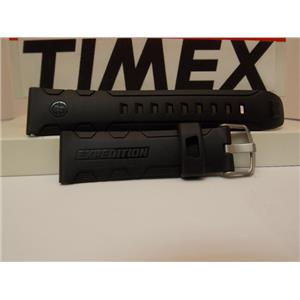 Timex Watch Watch Band 22mm Black Silicone Rubber Expedition Watchband/Strap