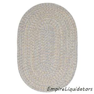 New - 2' x 6' Tremont Braided - Reversible Gray Oval Area Rug (Polypropylene)