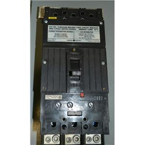 GE TLB434400 Molder Case Circuit Breaker, 400A, 480V, 3 Pole