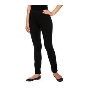 Susan Graver Size 3X Black Weekend Stretch Cotton Leggings