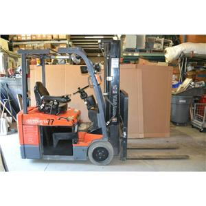 2010 Toyota 7FBEU15 Electric Forklift & 36V Battery Charger