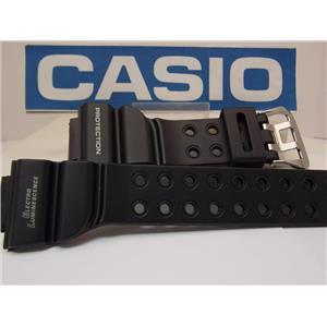 Casio Watch Band DW-8200 Frogman Black Strap White Graphics. Original Watchband