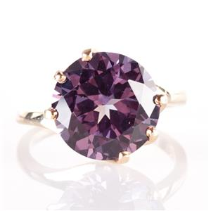 14k Yellow Gold Round Cut Lab Spinel Solitaire Ring 8.11ct