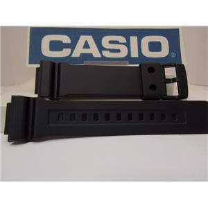 Casio Watch Band AD-S800 Black Resin Strap.Watchband/Tough Solar Digital Analog