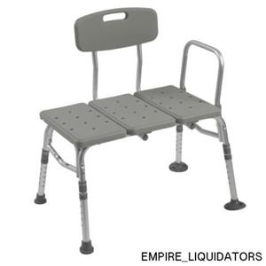 New Gray Drive Medical Transfer Tub Benches w/ Backrest 12011KD-1 (Original Box)