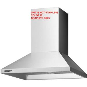 "NIB Viking D3 Series RDWHC3644GG 36"" Wall Mount Chimney Range Hood Graphite Grey"