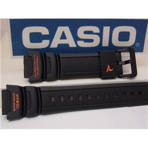 Casio Watch Band SGW-450 H-2B Black Resin Strap w/Orange.For Altimeter Barometer