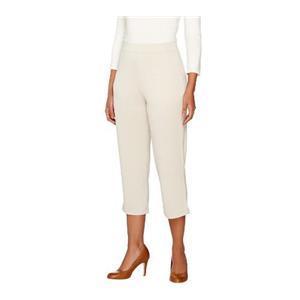 Susan Graver Size XS Sandstone Premier Knit Comfort Waist Pull-On Capri Pants