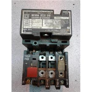 Square D 8536-A02 Motor Starter, Size 00