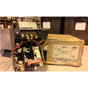 Square D 8536SCG2 AC Magnetic Starter, Nema Size 1, 2 Pole, 3 Phase