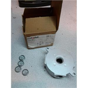 """RED DOT LVX-1 Vapor Tight Outlet Boxes, 1/2"""" holes, 4 plugs and mounting lugs"""