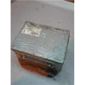 Hoffman A8066CH Junction Box; Panel Mount; Steel; Gray; 8x6x6 In; NEMA12; Hinged; Screw Clamp