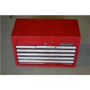 """Westward 32H869 Red Standard Duty Top Chest, 17""""H X 26""""W X 12-1/16""""D, 7 Drawers"""