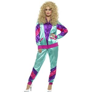Smiffy's Women's 80s Height of Fashion Shell Suit Female Costume Size Medium