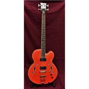 Dean Stylist, Semi Hollow, Archtop, 4 String Bass Guitar, Gretsch Orange