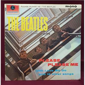 The Beatles Please Please Me LP Mono Record Album 1981 9th Release Edition