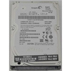 """Seagate Momentus 5400.4 ST9160827AS 2.5"""" SATA 8MB 1.5Gb/s 160GB HDD 42T1112"""