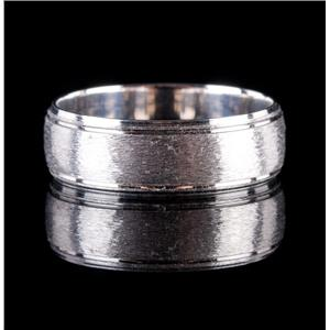 Men's 14k White Gold Textured Style Band / Ring 6.5g Size 11