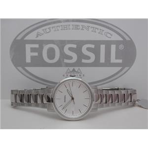 Fossil ES4183 Women's Watch.Neely.Round Steel. Silver Tone Case and Bracelet