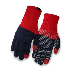 Giro Knit Merino Gloves Adult Red/Navy Cycling Touch Screen Technology