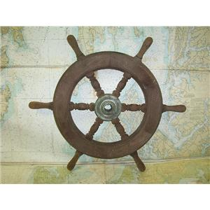 "Boaters' Resale Shop of TX 1706 1175.15 WOODEN SHIPS WHEEL 16""/24""- 1-1/8"" SHAFT"