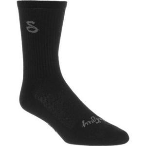 "SockGuy Turbo Wool 6"" Crew Sock - Black - SM/Med"