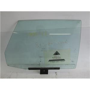 Audi 4000 right rear door glass window
