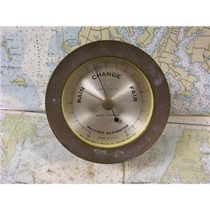 "Boaters' Resale Shop of TX 1706 2075.04 SETH THOMAS 4"" WEATHER BAROMETER"
