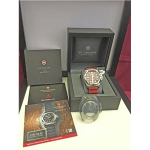 Victorinox INOX Pro Divers Watch Red Face w/Red Rubber Strap Swiss Made