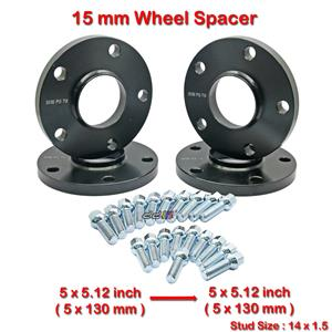 4 pcs 15mm 5 Studs 14 x 1.5 PCD 5 x 130 to 5 x 130 mm Wheel Spacer Spacers