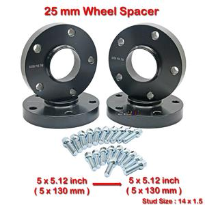 4 pcs 25mm 5 Studs 14 x 1.5 PCD 5 x 130 to 5 x 130 mm Wheel Spacer Spacers