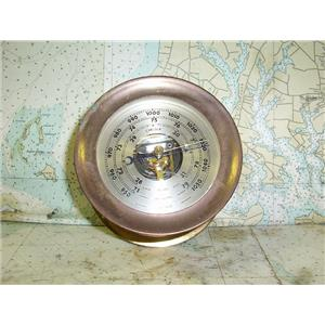 "Boaters' Resale Shop of TX  1707 1054.27 CHELSEA 4"" BRASS SHIPS BAROMETER"