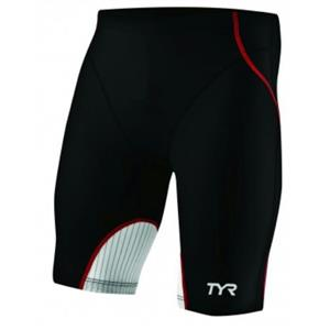 "TYR Carbon Male Tri Short 9"" Medium Black/Red"